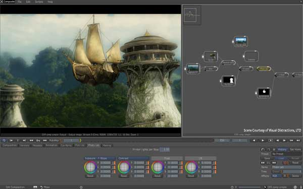 Image demonstrating the compositing features of 3ds Max Composite