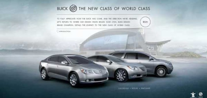 Image from the new interactive campaign for Buick