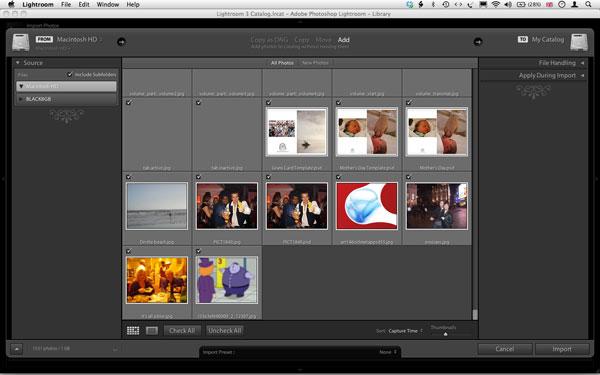 Screenshot of Lightroom 3 public beta 2