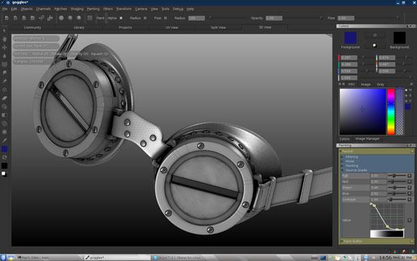 Screenshot of Mari,a full 3D paint tool