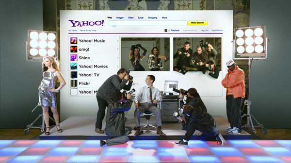 still image from Yahoo spot by Brickyard VFX