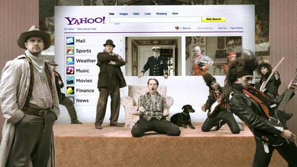 still image from Yahoo spot by Brickyard VFX