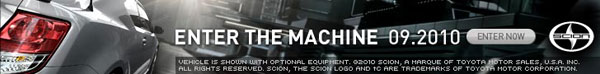 Image of interactive ad from Scion tC Enter the Machine campaign. Image courtesy of ATTIK.