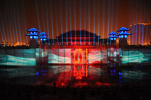 Performance of Yan Yu Chun Qiu Water Show. Image courtesy of Spinifex Group.