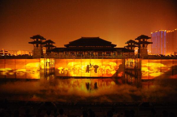 Performance of Yan Yu Chun Qiu Water Show. Image courtesy of Spinifex Group.