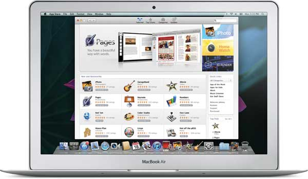 The Mac App Store is just like the App Store for iPhone, iPod touch, and iPad