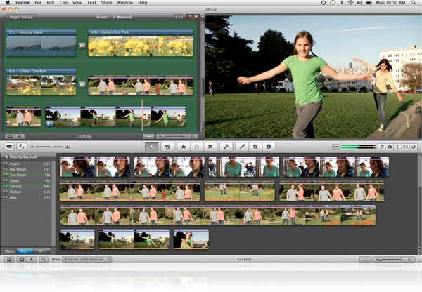 iMovie11 lets you quickly find the clips you need with People Finder.