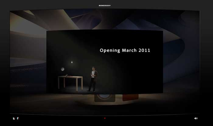 The exhibition takes the form of an interactive lecture, with a digital representation of Maeda speaking on a simple stage resembling his office at RISD