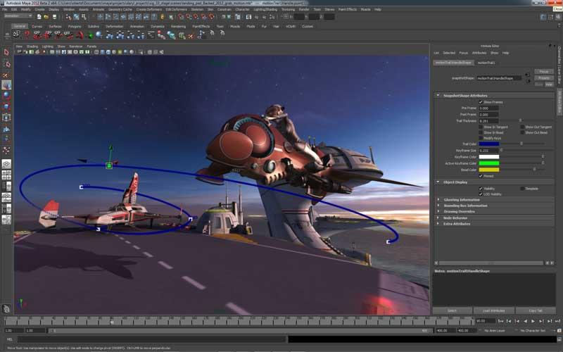 Editable Motion Trails in Maya 2012