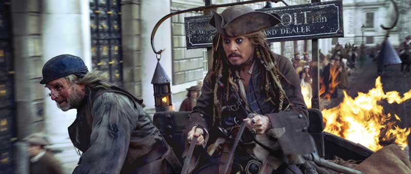 Captain Jack Sparrow (Johnny Depp) in 18th Century London in a scene from Pirates of the Caribbean: On Stranger Tides ©Disney Enterprises, Inc. All Rights Reserved