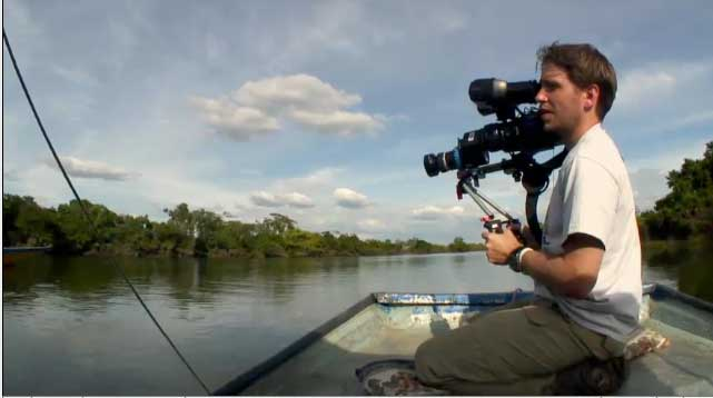 Gareth Edwards shooting the film Monsters