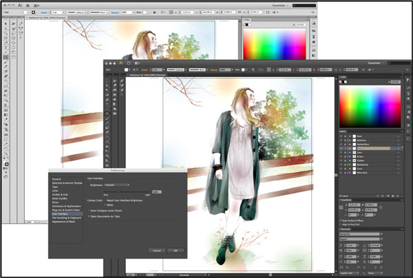 Illustrator CS6 workspace