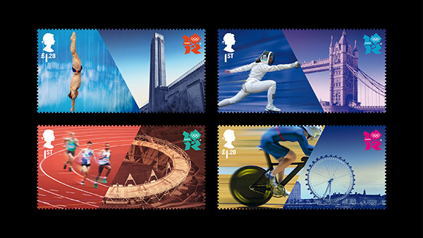 Hat-trick Design's Olympic Stamps for The Royal Mail