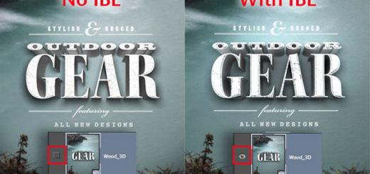 Photoshop can make use of IBL (Image Based Lights)