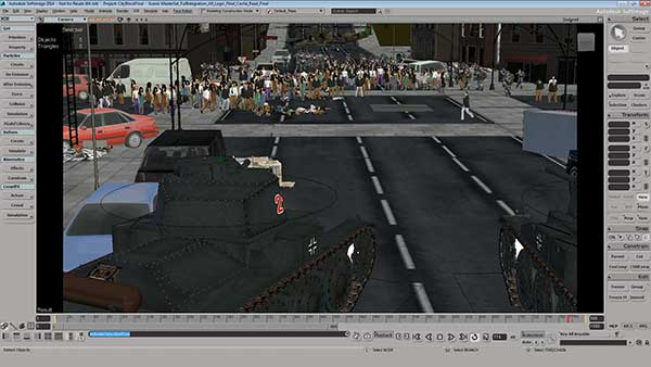Softimage 2014 offers improved CrowdFX and ICE (Interactive Creative Environment)