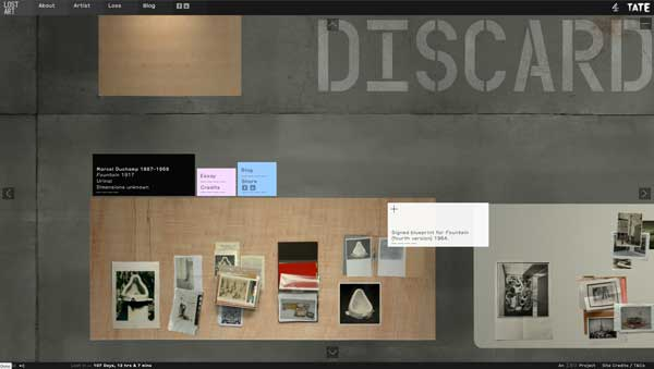 Archival images, films, interviews, blogs and essays are laid out for visitors to examine, revealing the evidence relating to the loss of works by over 40 artists across the twentieth century