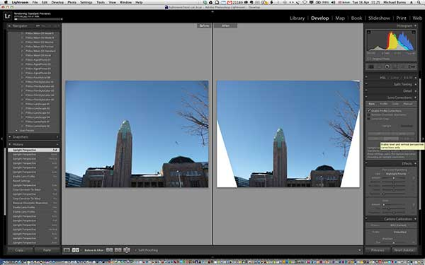 Upright tool in Adobe Photoshop Lightroom 5
