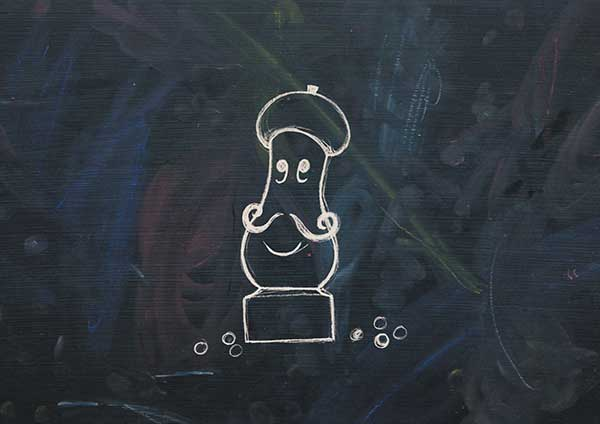 Pepper Mill character from Great British Chefs 'Cooking with Kids' app
