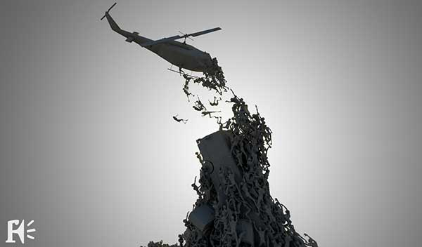 Concept Art for World War Z by Framestore