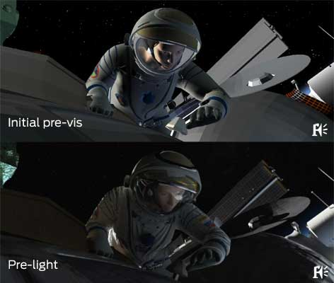 VFX work by Framestore on Gravity