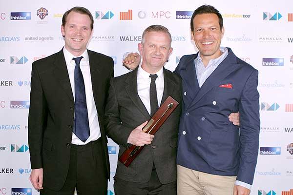 Chairman's Award winner Nick Gill (centre)