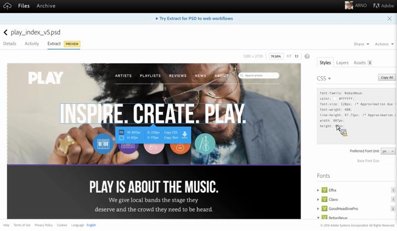 Creative Cloud Extractin use