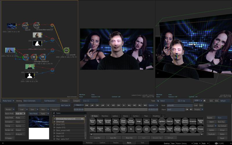 Flame 2016 Batch Compositing 3D VFX Workflow