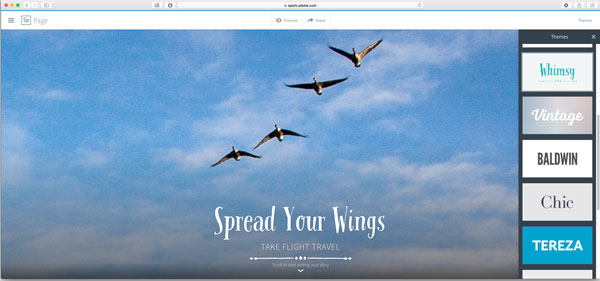 Flyer designed with Adobe Spark