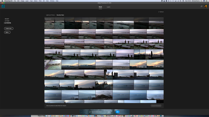 Lightroom collection in Adobe Photoshop CC 2018