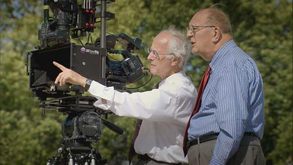Arthur Wooster and Bob Angel, who made the original Stereo3D film of the Queen's Coronation in 1953, with Can Communicate's 2009 Stereo3D camera rig.